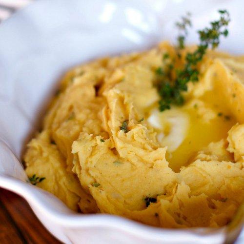 Puré de calabaza y patata